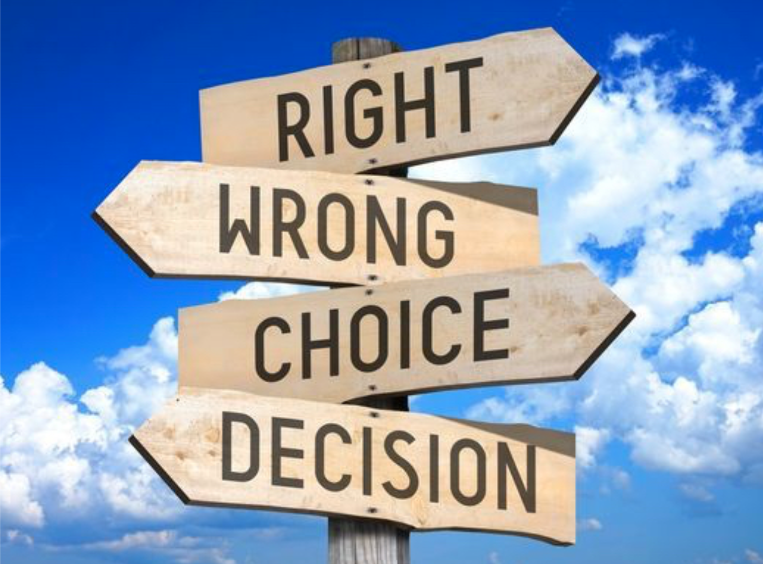 Making choices can give the illusion that decisions are ...